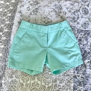J.Crew light teal chino shorts